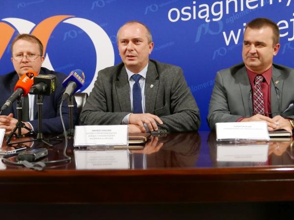 Od lewej: Maciej Wujec, Andrzej Kasiura, Piotr Dancewicz [fot. Aneta Skomorowska]