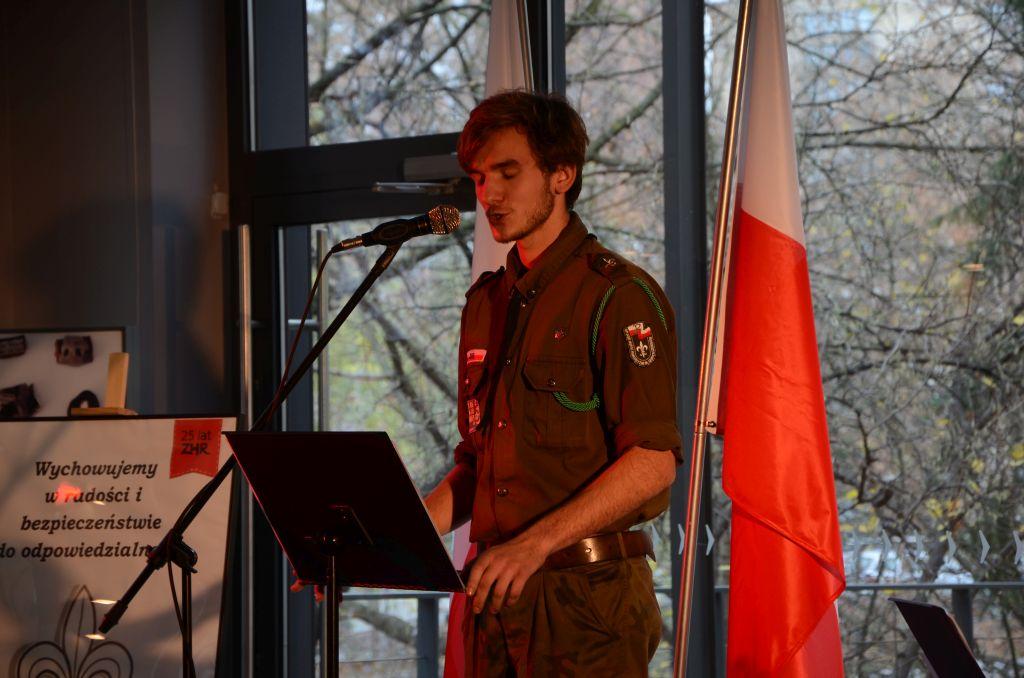 Opolscy harcerze w dzień Święta Niepodległości przygotowali spotkanie patriotyczne